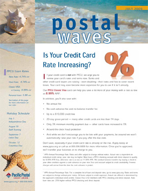 Newsletter - Pacific Postal Credit Union